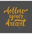 Inspirational lettering poster vector image