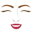 Isolated woman face design vector image
