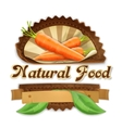 Juicy carrot label design vector image vector image