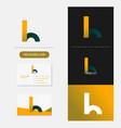 letter h logo premium vector image