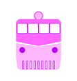 Locomotive symbol icon on white vector image