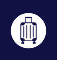 luggage bag icon on white vector image vector image