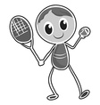 Male character playing tennis vector image