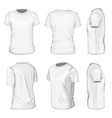 Mens white short sleeve t-shirt design templates vector image vector image