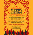 merry christmas invitation design template vector image vector image