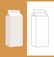 milk box flat style front vector image vector image