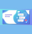 mobile gadget or tablet with customer reviews on vector image