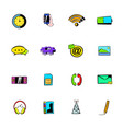 mobile icons set cartoon vector image vector image