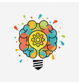 new ideas for creative thinking light bulb concept vector image
