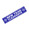 new year clearance scratched rectangle stamp seal vector image vector image