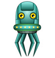 octopus robot character isolated on white backgrou vector image vector image