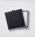 open black empty gift box on transparent vector image vector image