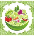 Organic food vegetable vector image vector image