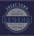 original sports legend vector image vector image