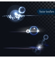 Photo realistic lens flares lights and glow vector image vector image