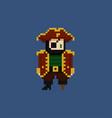 pixel art - 8 bit pirate vector image