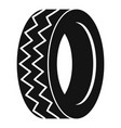round tire icon simple style vector image