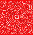 seamless pattern geometric figures vector image vector image