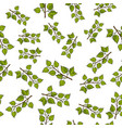 seamless pattern with hand drawn tree vector image vector image