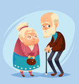 senior lady and gentleman with silver hair happy vector image