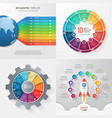 set 4 infographic templates with 10 processes vector image vector image