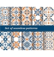 set of abstract pattern paper for scrapbook vector image vector image