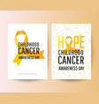 set posters for childhood cancer awareness day vector image