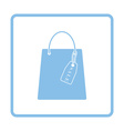 Shopping bag with sale tag icon vector image vector image