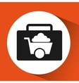 sign mining icon tool design vector image vector image