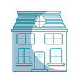 silhouette house with two floor to have a good vector image vector image