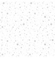 simple seamless winter pattern with grey vector image