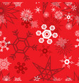 snowflake pattern red vector image vector image