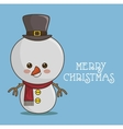 snowman character icon vector image vector image