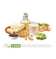 soy food products poster vector image vector image