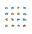 Speech bubble outline color icons for web and vector image vector image