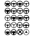 Steering wheel silhouettes vector image vector image