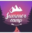 Summer camp logo Summer camp emblem Design vector image