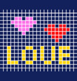 tile card love vector image vector image
