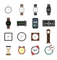 Time Icons Flat vector image vector image