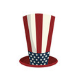 usa hat to patritism celebration design vector image