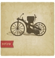 Vintage background with motorcycle vector image vector image