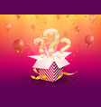 winning gifts lottery open vector image