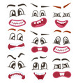 funny emoticons or smileys icons set for web vector image