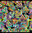 pattern 80s seamless background retro vector image