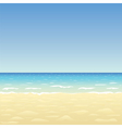 Ocean sand beach vector image