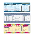 Airplane tickets vector image