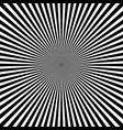 black white radial rays monochrome sunburst vector image