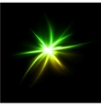 Lens flare effect background vector image