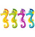Sea horses vector image