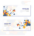 abstract circles colorful business banner template vector image